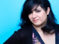 """Agnes Abecassis, romanciere francaise. Photographie realisee a l'occasion du 6em salon international du livre au format de poche """"Saint-Maur en Poche"""". St Maur,FRANCE-le 21/06/14"""